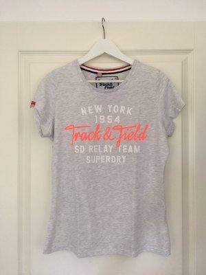 T-Shirt von Superdry grau