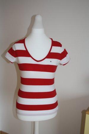 T-Shirt, von Tommy Hilfiger, Gr. M, Rot-Weiß