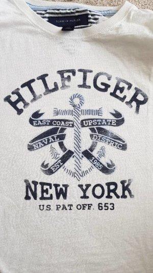 T-Shirt von Tommy Hilfiger Gr. S in weiß mit Anker Motiv