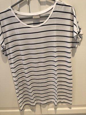 Vero Moda Camisa de rayas blanco-azul oscuro