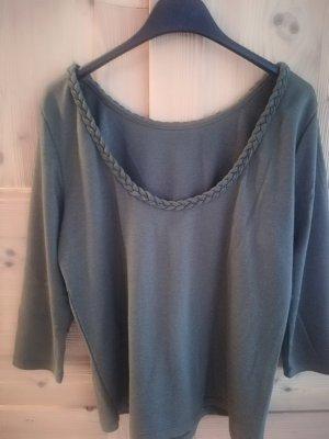 Vila Boatneck Shirt khaki cotton