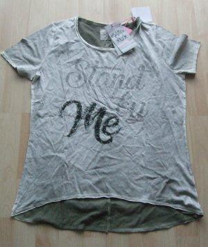 We love XOX T-shirt kaki coton