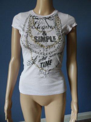 T-Shirt von Zara mit Strasssteinchen