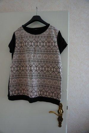 Zero Camiseta negro-blanco Algodón