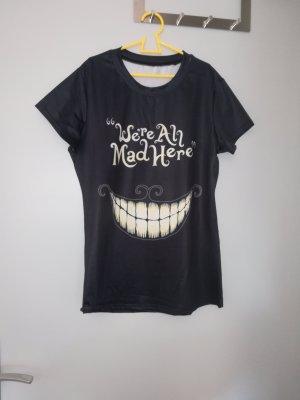 Print Shirt white-black