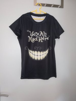 """T-shirt """"we're all mad here"""""""