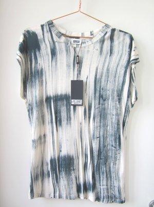 T-shirt WEEKDAY Longshirt Viskose abstrakter Print nude