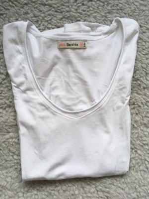 T-Shirt weiß Bershka