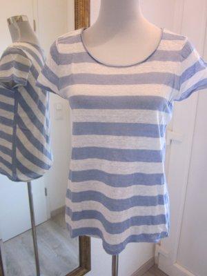 T Shirt weiss blau gestreift Gr M   Massiomo Dutti