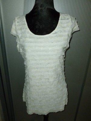 T-Shirt weiß creme Orsay