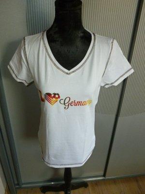 T-Shirt weiß Deutschland active