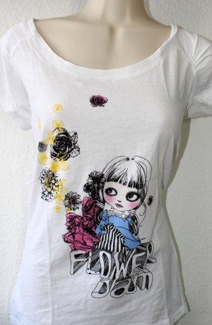 T-Shirt, weiß, Druck