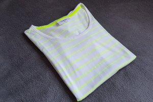 T-Shirt Weiß Hellgrün Apfelgrün Limette Gr. 38