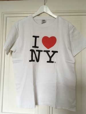 T-Shirt Weiß I Love NY in M