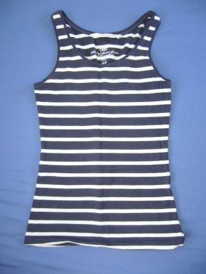 T-Shirt weiß/marineblau gestreift H&M XS 34
