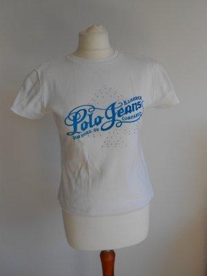 T-Shirt weiß mit Aufdruck und Strasssteinen