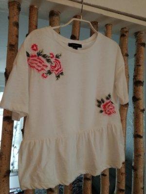 T-Shirt weiss mit Blumen