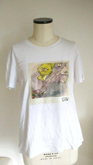 T-Shirt weiß mit Katzenprint