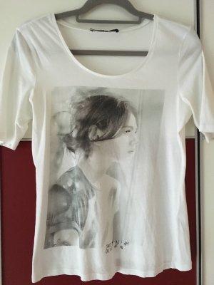 Oui Set Camiseta estampada blanco-gris claro