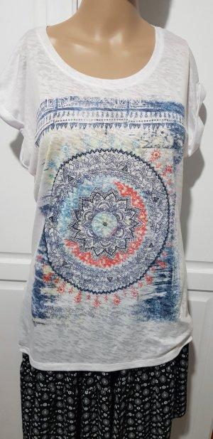 T-shirt weiß mit print