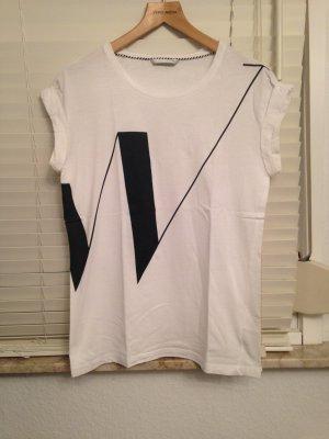 T-Shirt weiß mit Print Gr. XS