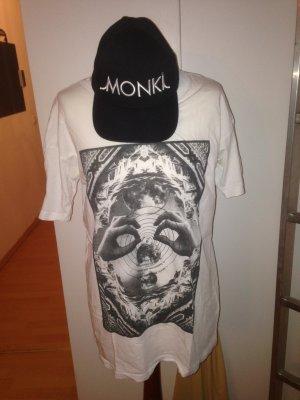 T-Shirt weiß Monki Weekday xs 34 36 38 40 Print Printshirt