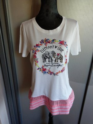 T-Shirt weiß rosa neu Marc Cain