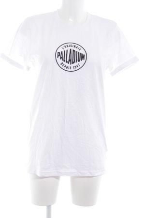 T-Shirt weiß Schriftzug gedruckt Casual-Look