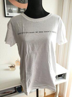 T-Shirt weiß Schriftzug Oh No!