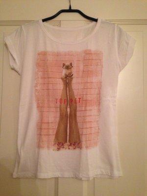 T-shirt, weiß, Zara, Größe S