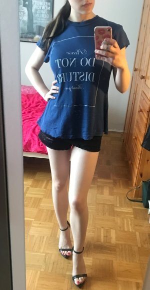 "T-Shirt Wildfox ""Do not disturb"" Gr. XS S 34 36 blau used look oversize NP 99€"