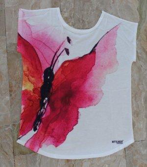 Batik shirt wit-roze Gemengd weefsel