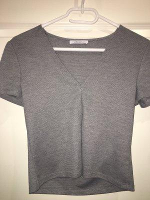 Zara V-Neck Shirt grey