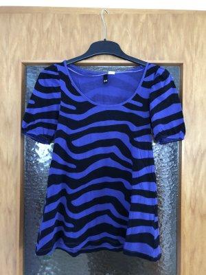 T-Shirt Zebramuster in lila/schwarz H&M
