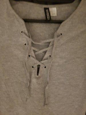 T-Shirt zum binden in grau