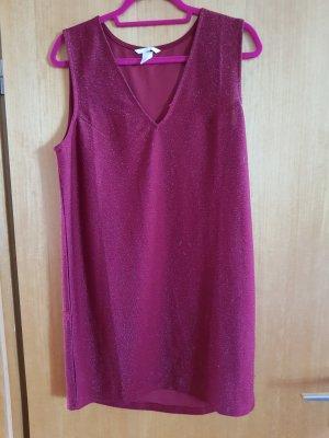 H&M Vestido de tela de sudadera bermejo