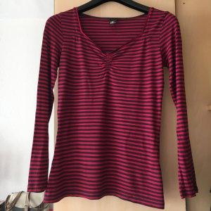 BC T-shirt zwart-framboosrood