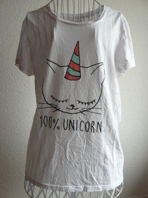 T-Shrit mit Print 100% Unicorn, Größe L von Even &Odd