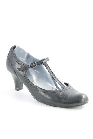 Zapatos de tacón con barra en T negro estilo clásico