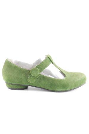 T-Steg-Sandaletten grasgrün Boho-Look