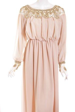 T.tangtu Maxi Dress nude-gold-colored elegant