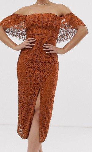 Asos Pencil Dress russet-dark orange