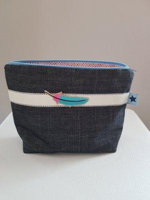 Stoffen tas lichtroze-blauw Katoen