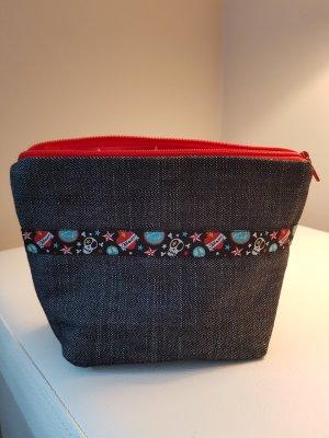 Canvas Bag red-dark blue