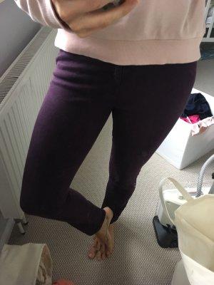 Tag & Bone Jeans skinny Blogger weinrot burgund