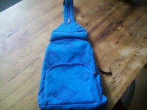 School Backpack cornflower blue-blue cotton