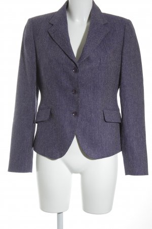 Tagliatore Wool Blazer blue violet-grey brown graphic pattern business style