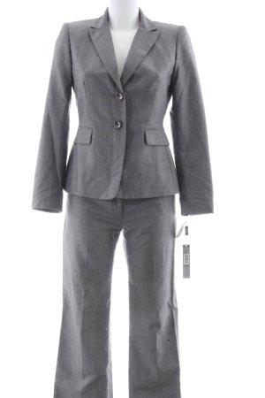 Tahari Tailleur-pantalon gris clair moucheté style d'affaires