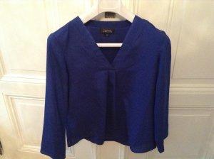 Tahari-Shirt mit V-Ausschnitt royalblau