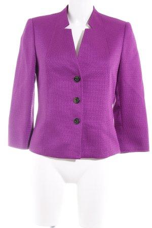 Tahari Blazer in maglia viola-lilla motivo trapuntato elegante